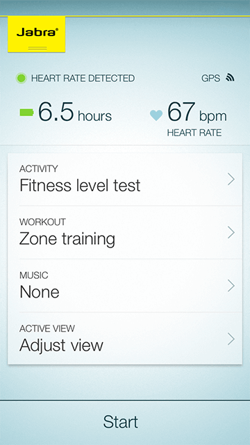 Jabra Sport Life fitness app - Plan your workout