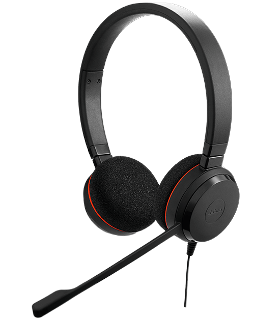 Jabra Evolve 75 Duo Wireless Headset Skype For Business: Jabra EVOLVE 20 Headset With Quality Microphone