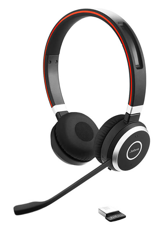 without USB controller headset only with 3.5mm jack Jabra Evolve 80 UC Stereo Black//Silver