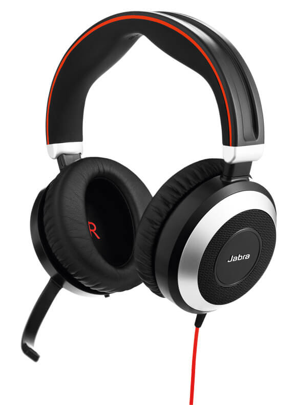cada0269afd Jabra EVOLVE 80 headset with active noise cancellation
