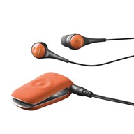 Jabra CLIPPER Tangerine Tango with headphones