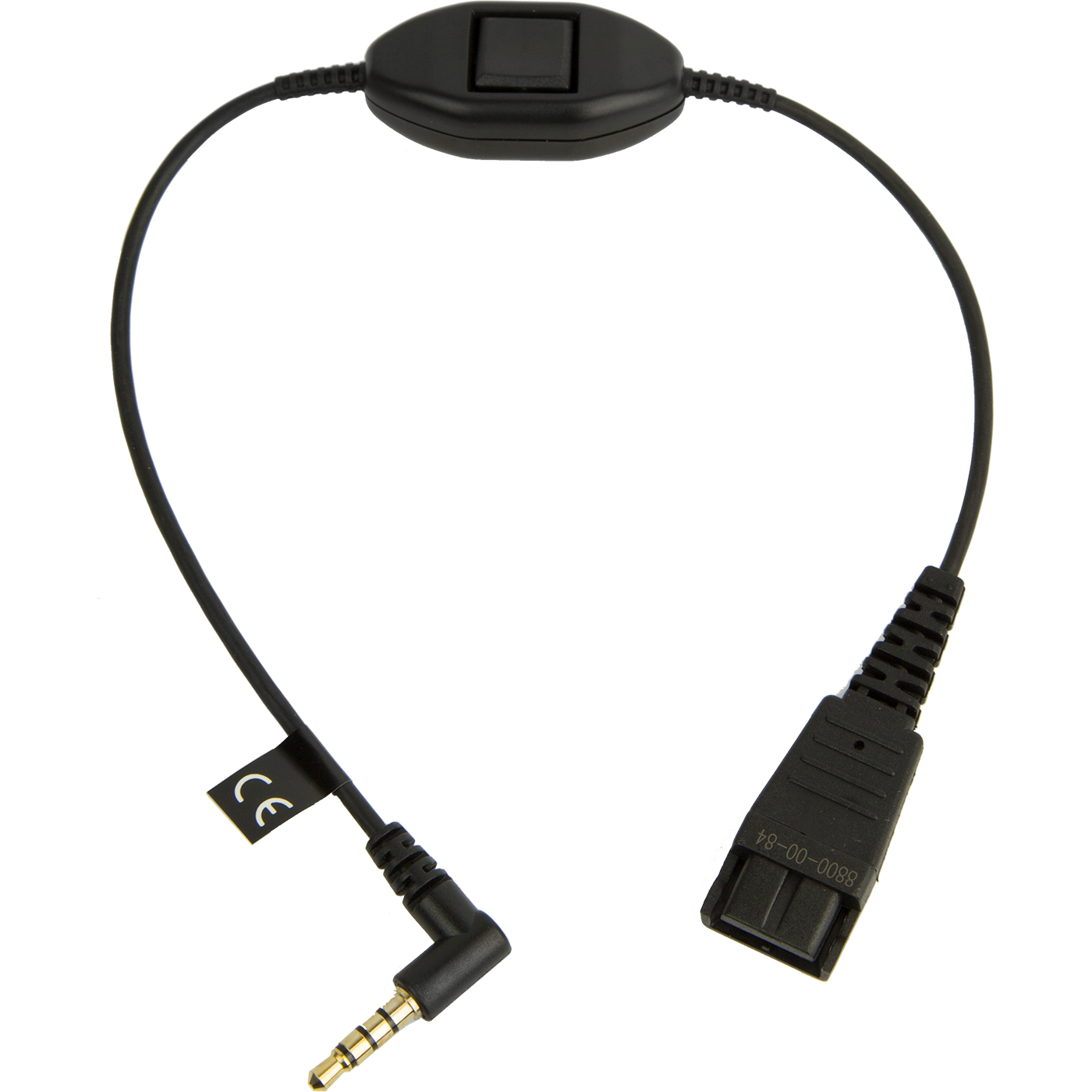 Jabra Quick Disconnect (QD) To 3.5 Mm Jack Cord For Nokia, With Answer/end/mute Function